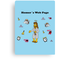 Homer´s Web Page Canvas Print
