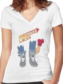 Power Laces! Women's Fitted V-Neck T-Shirt
