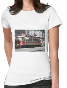 Trams in Prague Womens Fitted T-Shirt