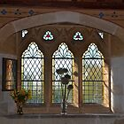 Church Window at All Saints, East Budleigh,Devon.UK by lynn carter