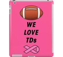 We Love Tds - Football - Breast Cancer Awareness iPad Case/Skin