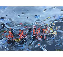 Rush Hour in the rain  Photographic Print