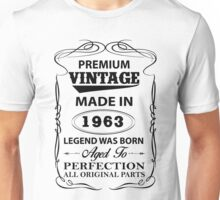 Premium Vintage 1963 Aged To Perfection Unisex T-Shirt