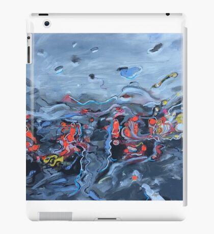 Rush Hour in the rain  iPad Case/Skin