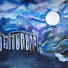 The Temple of Poseidon Against the Moon by Mandolin-Crow