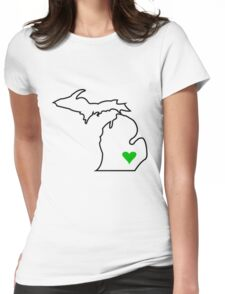 Michigan Love - Green  Womens Fitted T-Shirt