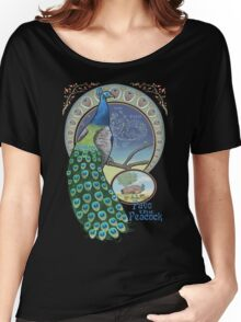 Pavo the Peacock Constellation Art Nouveau Style Women's Relaxed Fit T-Shirt