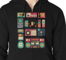 Retro Technology Zipped Hoodie