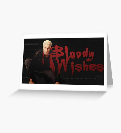 Bloody Wishes from Spike the Vampire - Halloween Greeting Card