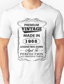 Premium Vintage 1968 Aged To Perfection Unisex T-Shirt