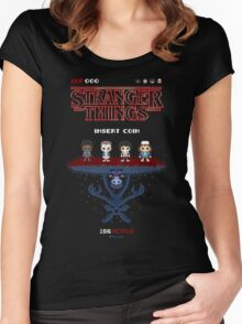 16-bit Stranger Things Women's Fitted Scoop T-Shirt