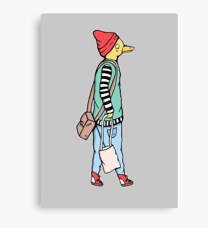 Duck Hipster Fashion Canvas Print