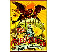 GRIFFON CYCLES;Vintage Bicycle advertising Print Photographic Print