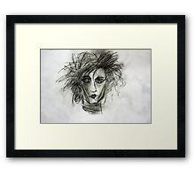 Edward Dark Fantasy Movie Art Drawing  Framed Print