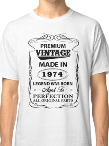 Premium Vintage 1974 Aged To Perfection Classic T-Shirt