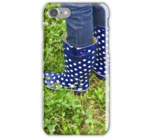 Blue Rain Boots iPhone Case/Skin