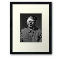 Censor Leaders - Mao Zedong Framed Print
