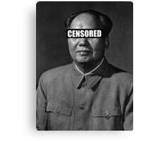 Censor Leaders - Mao Zedong Canvas Print