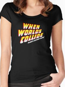When Worlds Collide titles Women's Fitted Scoop T-Shirt