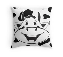 Crazy Laughing Cow Throw Pillow