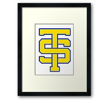 Taylor Swift High School Cheerleading Logo - Shake It Off - 1989 #shakeitoff #1989 Framed Print