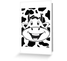 Crazy Laughing Cow Greeting Card
