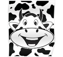 Crazy Laughing Cow Poster