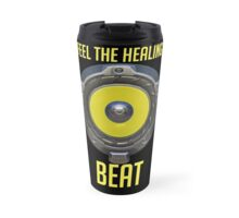 Feel the Healing Beat! Yellow Travel Mug