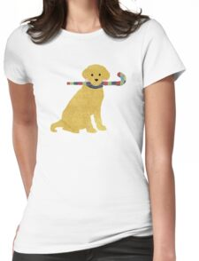 Preppy Golden Retriever Field Hockey Dog Womens Fitted T-Shirt
