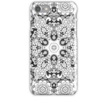 Beautiful black white floral mandala iPhone Case/Skin