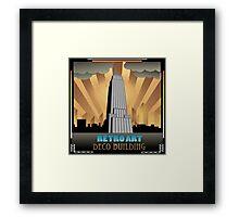 Art deco,NYC,deco building,vintage,retro,elegant,chic, Framed Print