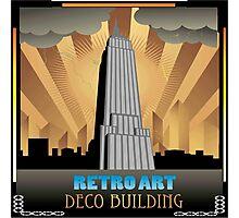 Art deco,NYC,deco building,vintage,retro,elegant,chic, Photographic Print