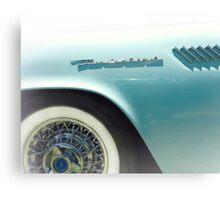 Powder Blue Thunderbird Classic Car Canvas Print