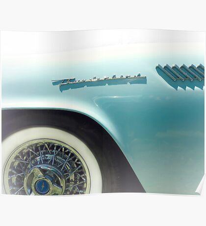 Powder Blue Thunderbird Classic Car Poster