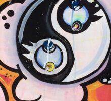Yin yang painting Sticker