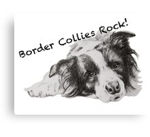Border Collies Rock Canvas Print