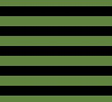 Stripes (Parallel Lines) - Green Black  by sitnica