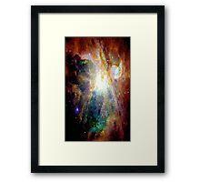 Pixel Yellow Nebula Framed Print