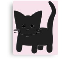 Theo Cat - Pink Canvas Print