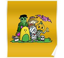 Halloween monsters Trick-or-treat Poster