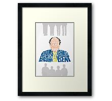 George Costanza - It Looks Decent Framed Print