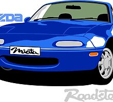 Mazda Miata blue by car2oonz