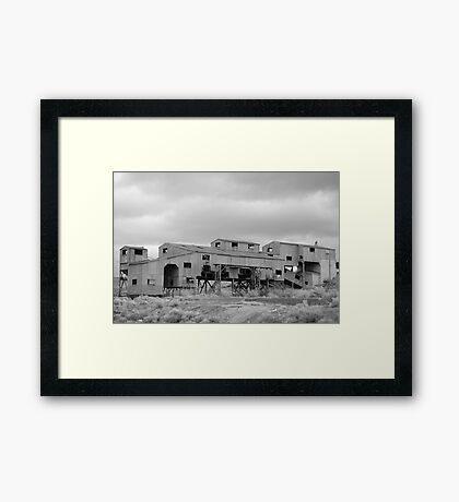 Rilance, Wyoming Tripple 1910 Coal Mine If you like, please purchase, try a cell phone cover thanks Framed Print
