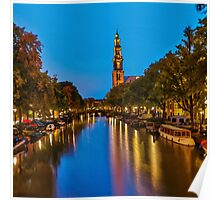 Amsterdam - Oil Paint Art (Square) Poster