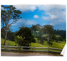 Mount Gulaga from Central Tilba NSW Poster