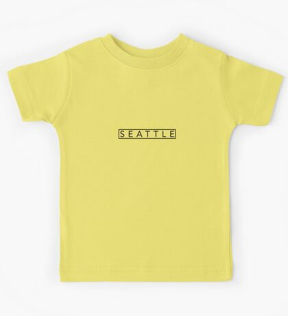 Contemporary Seattle Modern Minimalist Print Kids Tee