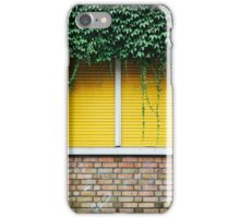 Yellow Window Roller Shutter iPhone Case/Skin