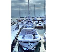Frozen Boats Photographic Print