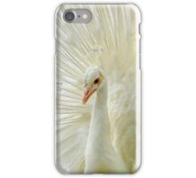 The White Peacock iPhone Case/Skin