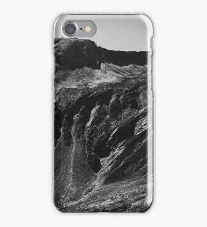 Swiss Alps in Black and White iPhone Case/Skin